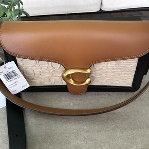 Coach Tabby Shoulder Bag 26 In Blocked Signature